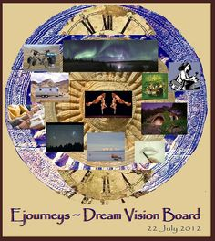 """Ejourneys, who cares for her partner, calls his vision board her """"Dream Vision Board."""""""