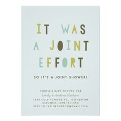 Joint Effort Couple's Child Bathe Invitation.  Look into more by visiting the picture