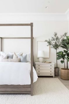 Modern Farmhouse Master Bedroom Makeover - our inspo photos, ideas and plans on how to create a calm, clean, timeless oasis! Farmhouse Master Bedroom, Master Bedroom Makeover, Home Bedroom, Modern Bedroom, Bedroom Furniture, Bedroom Neutral, Bedroom Makeovers, Contemporary Bedroom, Master Bedrooms