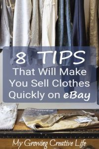 Ways to Save Archives - My Growing Creative Life Ebay Selling Tips, Selling Online, Ebay Tips, Online Sales, Selling Used Clothes Online, Amazon Online, Online Clothes, Amazon Fba, Online Work