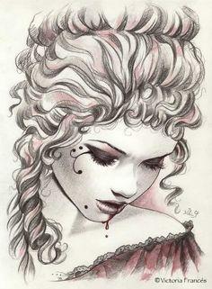 Victoria Francen and Luis Royo Gothic Vampire, Vampire Art, Dark Fantasy, Fantasy Art, Gouts Et Couleurs, Luis Royo, France Art, Boris Vallejo, Goth Art