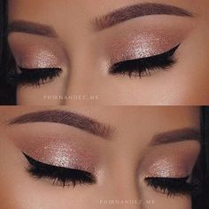 definite Gabrielle style ... gold and wing eyeliner