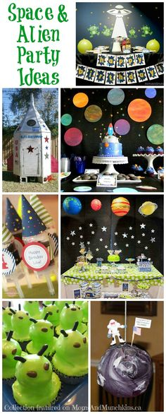 In this collection of space birthday party ideas you'll find ideas for decorations, food, sweets, activities and more. So many clever ideas to choose from!