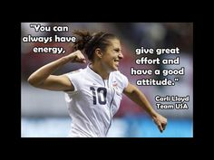 Soccer Poster Carli Lloyd Photo Quote Wall Art Print to You Can Always Have Energy- Give Effort & Good Attitude - Free USA Ship Soccer Pro, Soccer Drills, Girls Soccer, Soccer Players, Soccer Stuff, Nike Soccer, Soccer Cleats, Soccer Ball, Soccer Couples