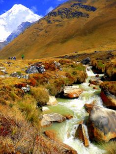 Salkantay Mountain, Salkantay Trail, Peru.  This mountain route follows the ancient footsteps of the Incas and connects to the famous Inca trail.  Much more memorable, beautiful, magical and remote than the Inca trail if you are up for an adventure:)