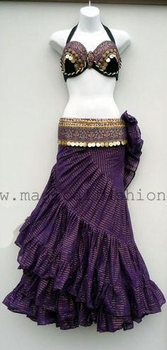 Pretty purple skirt.