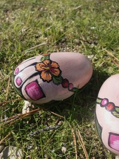FLIP FLOP painted rock fun by MyGardenRocks