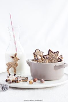 Healthy gingerbread cookies with hazelnuts