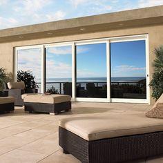 Marvin Lift and Slide Doors; 3-panel retractable glass wall/pocket door