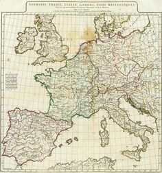 Germany, France, Italy, Spain, British Isles by Anville 1776 #map #europe
