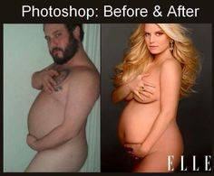 [Humor] A Before And After Of The Photoshop Involved In Magazine Covers