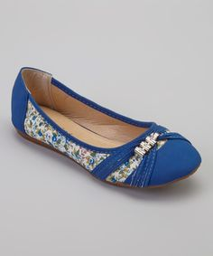 This Gemini Royal Blue Floral Sun Flat by Gemini is perfect! #zulilyfinds