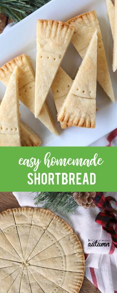 Make amazing shortbread at home with this easy shortbread recipe. Traditional shortbread wedges or simple shortbread cookies that everyone will love. Scottish Shortbread Cookies, Buttery Shortbread Cookies, Shortbread Biscuits, Cookies Et Biscuits, Baking Biscuits, Tea Cookies, Baking Cookies, Homemade Shortbread, Shortbread Recipes
