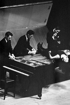 John Cage, David Tudor, Yoko Ono, and Mayuzumi Toshiro, Music Walk, 1962.