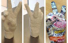 art project for kids. 3d Art Projects, High School Art Projects, Sculpture Projects, Projects For Kids, Project Ideas, Craft Ideas, Plaster Sculpture, Hand Sculpture, Plaster Hands