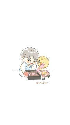 Cute Cartoon Wallpapers, Animes Wallpapers, K Pop, Kids Fans, K Wallpaper, Korean Boy, Felix Stray Kids, Crazy Kids, Kpop Fanart
