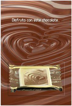 ¡Una tarjeta con un cuadrado de chocolate! Conozca nuestras sugerencias: How To Make Chocolate, Bonbon, Candy, Messages, Cards