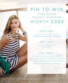 Pin to #win your dream #holiday wardrobe, worth £500!