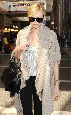 Charlize Theron from The Big Picture: Today's Hot Pics  The newly single actress is spotted working airport chic attire in Los Angeles.