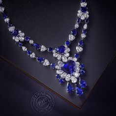 Sweetheart sapphires  The finest heart shaped sapphires and diamonds are set alongside one another in this beautiful and enchanting unique piece which perfectly exemplifies the passion and creativity of Graffs Master Craftsmen. #GraffDiamonds #Sapphires by graffdiamonds