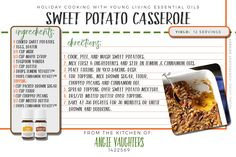 Holiday Cooking with Young Living Vitality Oils!  Sweet Potato Casserole