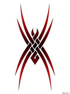 Tribal Spider Tattoo Design