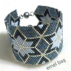 Peyote stitch bracelet by Emel Bas from Turkey ( pattern Anna C.Neff )