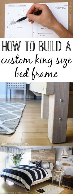 How to Build a Custom King Size Bed Frame | A step-by-step of how we built our king size bed frame. It's a simple design held together with bolts. We'll take you through each phase, so you can tackle this on your own. Especially if you're like me and you'd rather build it than buy it. Here we go!