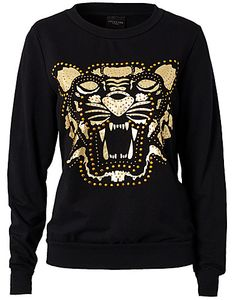 PUSEROT - SELECTED FEMME / WILD TIGER SWEATER - NELLY.COM