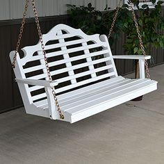 AL Furniture Co Marlboro Porch Swing 5 Foot White Paint ** This is an Amazon Associate's Pin. Click the VISIT button to view the details on Amazon website.
