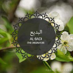 Al-Badi,The Originator,Islam,Muslim,99 Names
