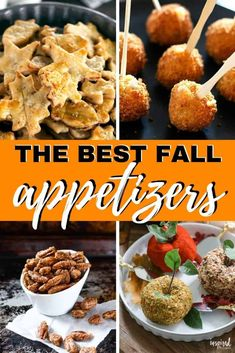 Ultimate Fall Party Appetizers to throw a gathering to ring in the autumn season! Ultimate Fall Party Appetizers to throw a gathering to ring in the autumn season! Heavy Appetizers, Fall Appetizers, Appetizer Recipes, Spicy Appetizers, Mushroom Appetizers, Dessert Recipes, Vegetarian Appetizers, Popcorn Recipes, Cookie Recipes