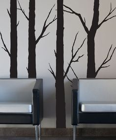 Black Forest Trees Wall Decal