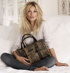 LONGCHAMP - Kate Moss by Longchamp in 2011 ~ Pinned by Nathalie Gobbe