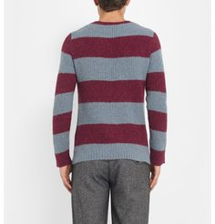 Undercover Striped Alpaca-Blend Sweater