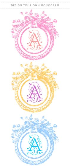 New tool to edit your Wedding Chicks Free Printable in real time. Check it out and customize your printables with different colors and extra fancy fonts. xoxo http://www.weddingchicks.com/2014/06/19/custom-monogram/