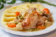 Kura na záhradnický spôsob No Salt Recipes, Chicken Recipes, Czech Recipes, Ethnic Recipes, What To Cook, Main Meals, Family Meals, Risotto, Mashed Potatoes