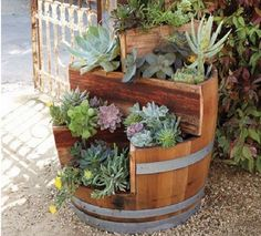 Genius Ideas How To Use Old Barrel For Planting Flowers Genius Ideas How To Use Old Barrel For Planting FlowersUsing a whiskey barrel planter is an ingenious way of container gardening. What a spe
