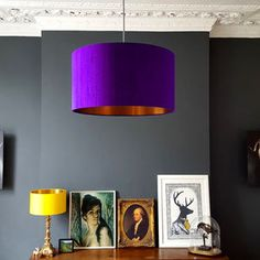 Ultra Violet Silk Shade With Copper Or Gold Lining
