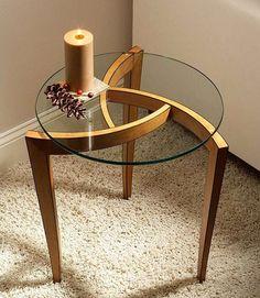 Three-legged Occasional Table; Michael Fortune; Feb. 2011.