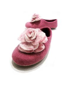 Felted slippers Purple dream by FeltingbyEglut on Etsy, $57.00