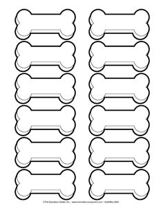 Pets theme on pinterest dog bones pets and veterinarians for Coloring pages of dog bones