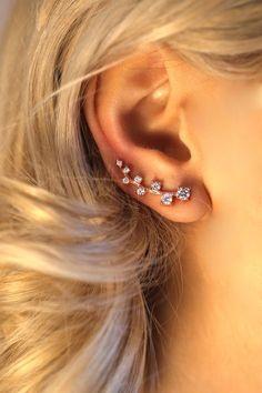 Ling Studs Earrings Hypoallergenic Cartilage Ear Piercing Simple Fashion Earrings Ear Jewelry Simple Paper Clip Pin