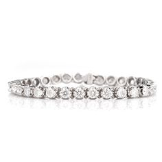 Estate 15.30Ct Diamond Gold Tennis Bracelet Item #: 619604