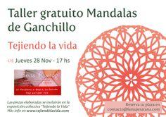 Cartel promocional del segundo Taller gratuito de Mandalas de Ganchillo