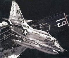 Military Jets, Military Aircraft, Fighter Aircraft, Fighter Jets, Uss Hancock, Fixed Wing Aircraft, Douglas Aircraft, Airplane Art, Navy Aircraft