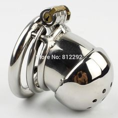 NEW Small Male Chastity Cage Penis Lock With Spiked Ring Sex Toys Stainless Steel Chastity Device For Men Cock Cage #Affiliate