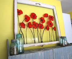 Dishfunctional Designs: Beautiful Upcycled Painted & Decorated Windows