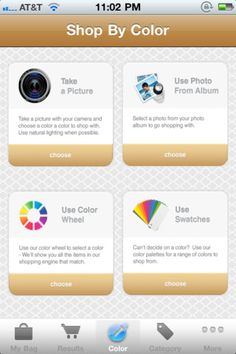 We've solved the problem of shopping by color!  Easily find items in the perfect shade with our free iPhone app!  Download the LuxeFinds Color Shopping Engine today!