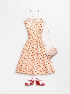 フラミンゴ柄ドレス / kate spade NY